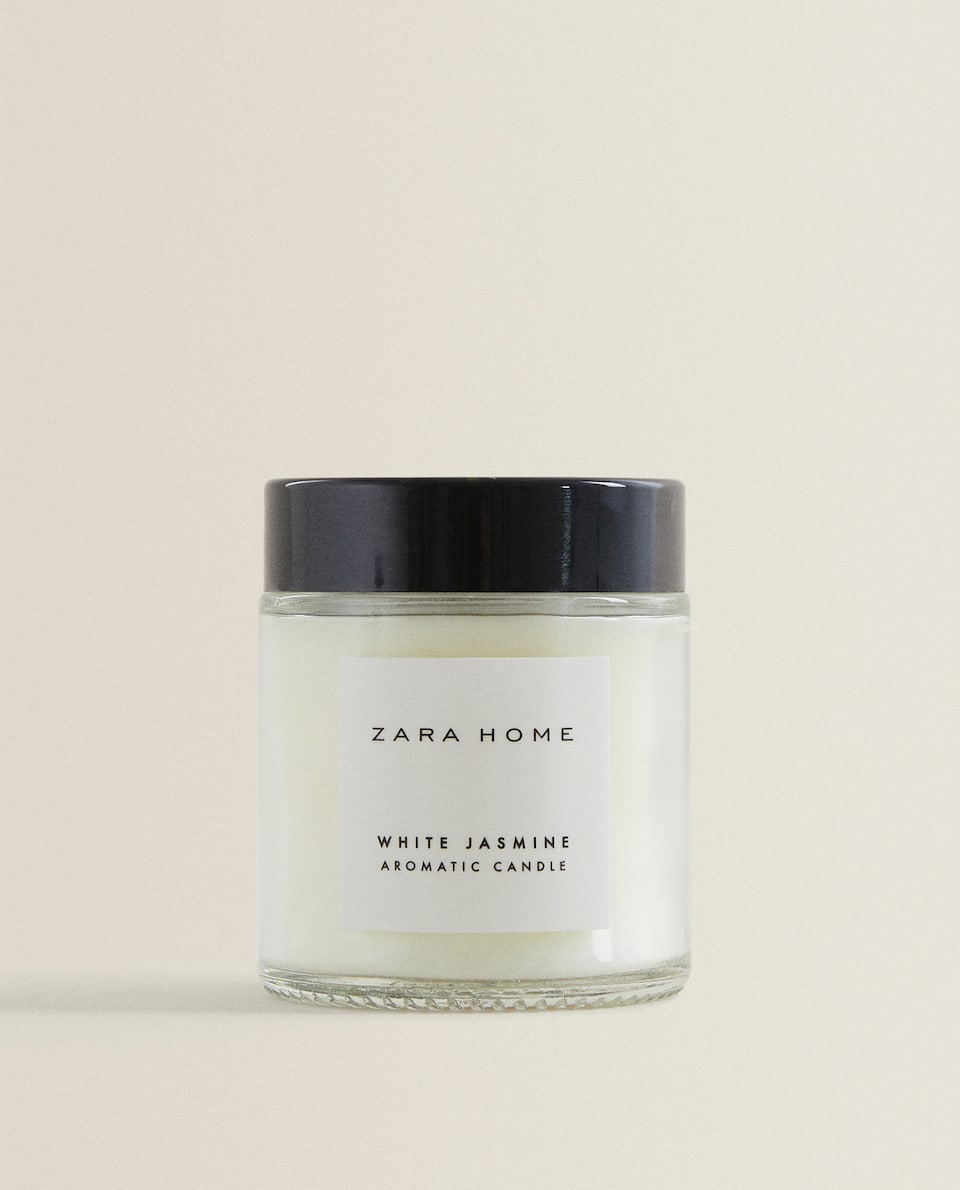 (80 G) WHITE JASMINE SCENTED CANDLE