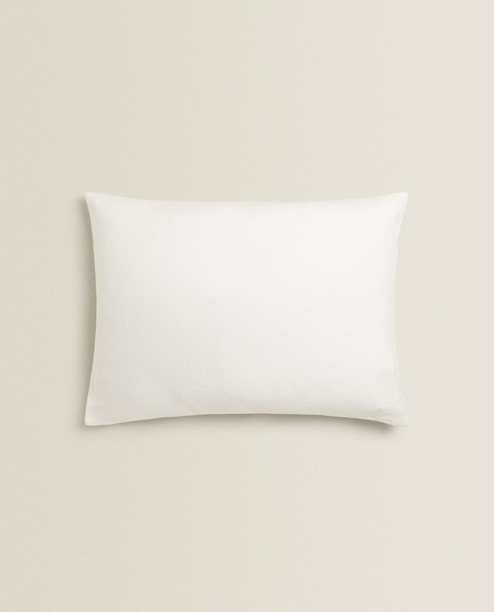 SOLID OYSTER WHITE THROW PILLOW