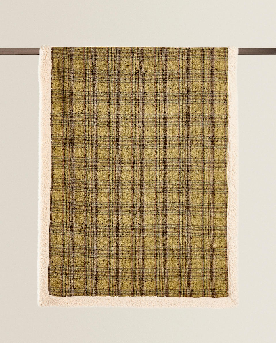 PLAID MOUTON CARREAUX