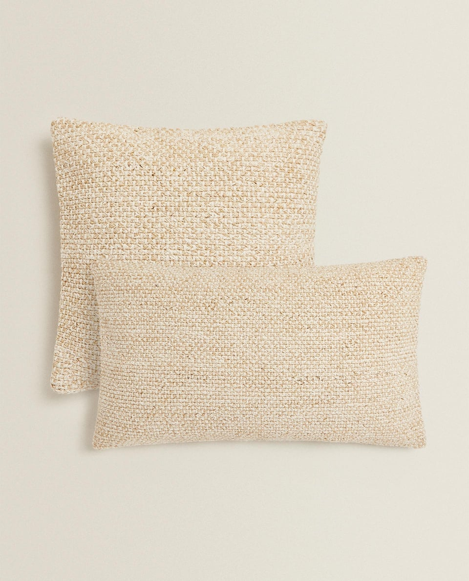 WOVEN COTTON CUSHION COVER