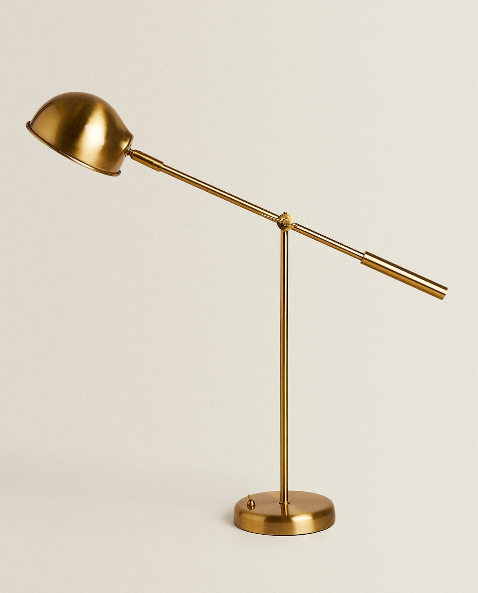 GOLD METAL DESK LAMP