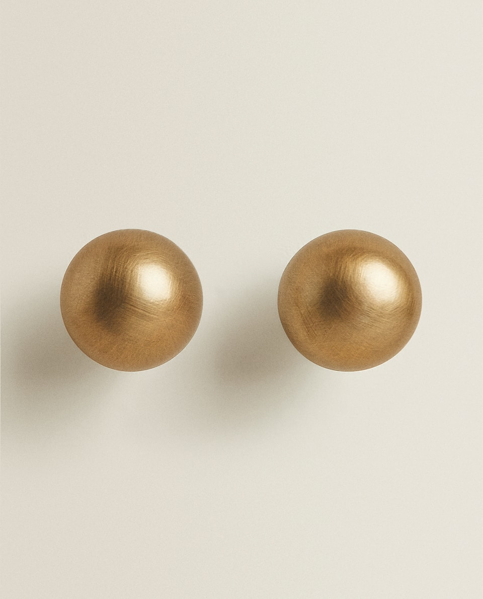 BRASS DOOR KNOB (PACK OF 2)