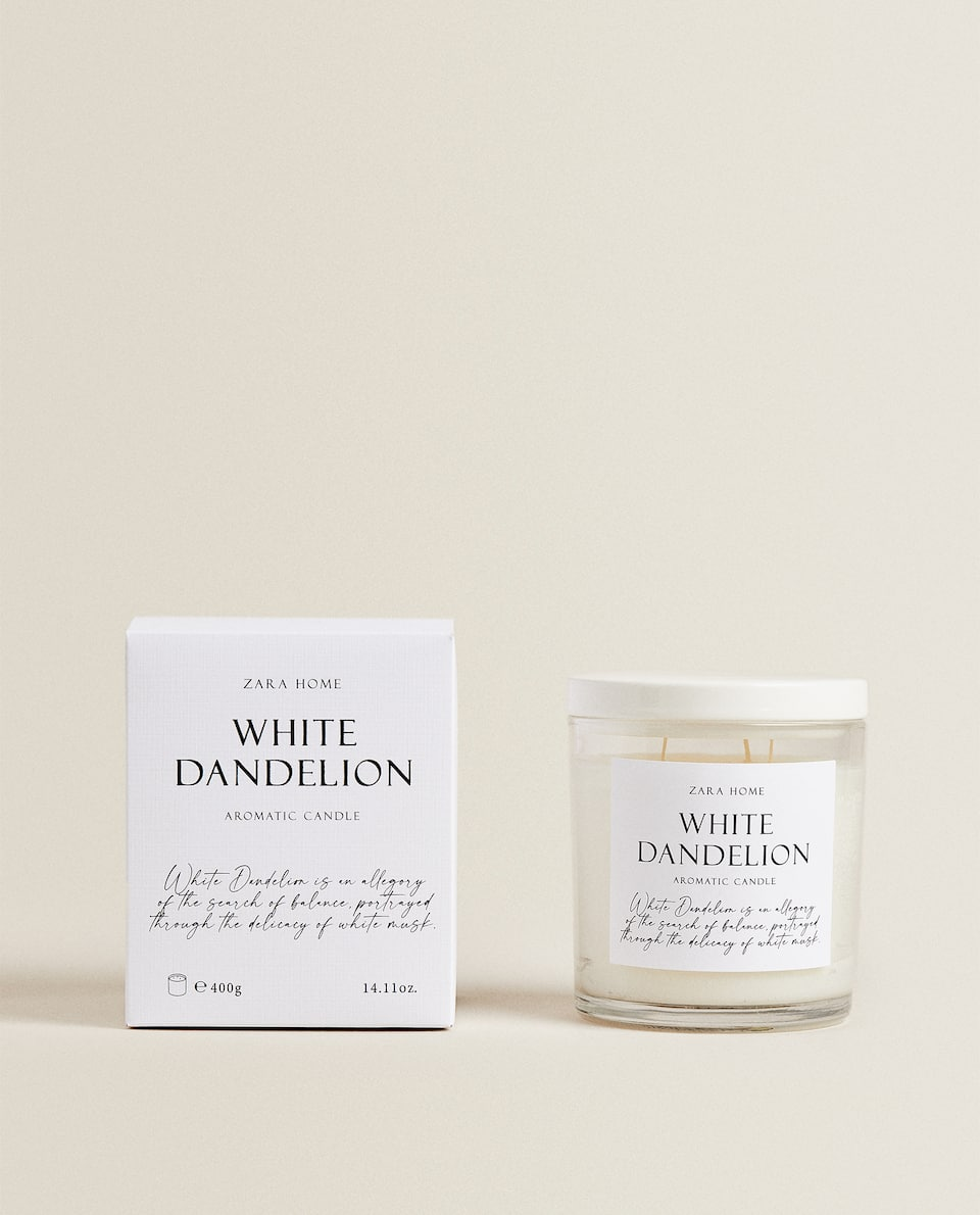 (400 G) WHITE DANDELION CANDLE