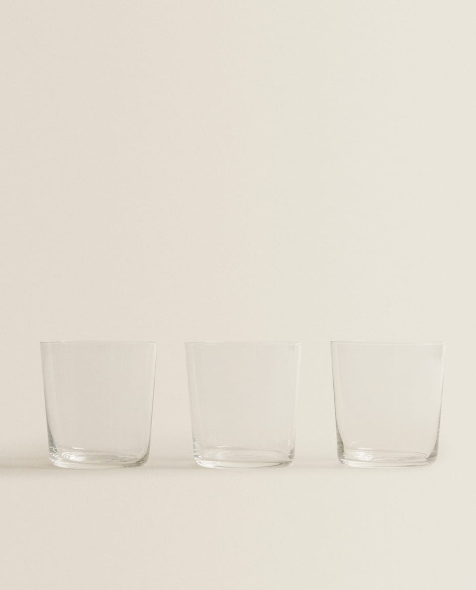 GLASS WATER TUMBLER (PACK OF 3)