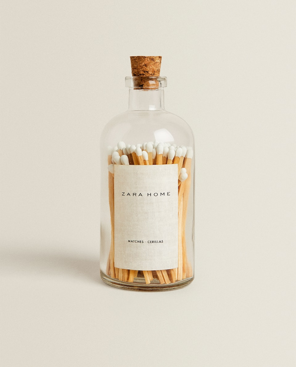 GLASS JAR WITH MATCHES