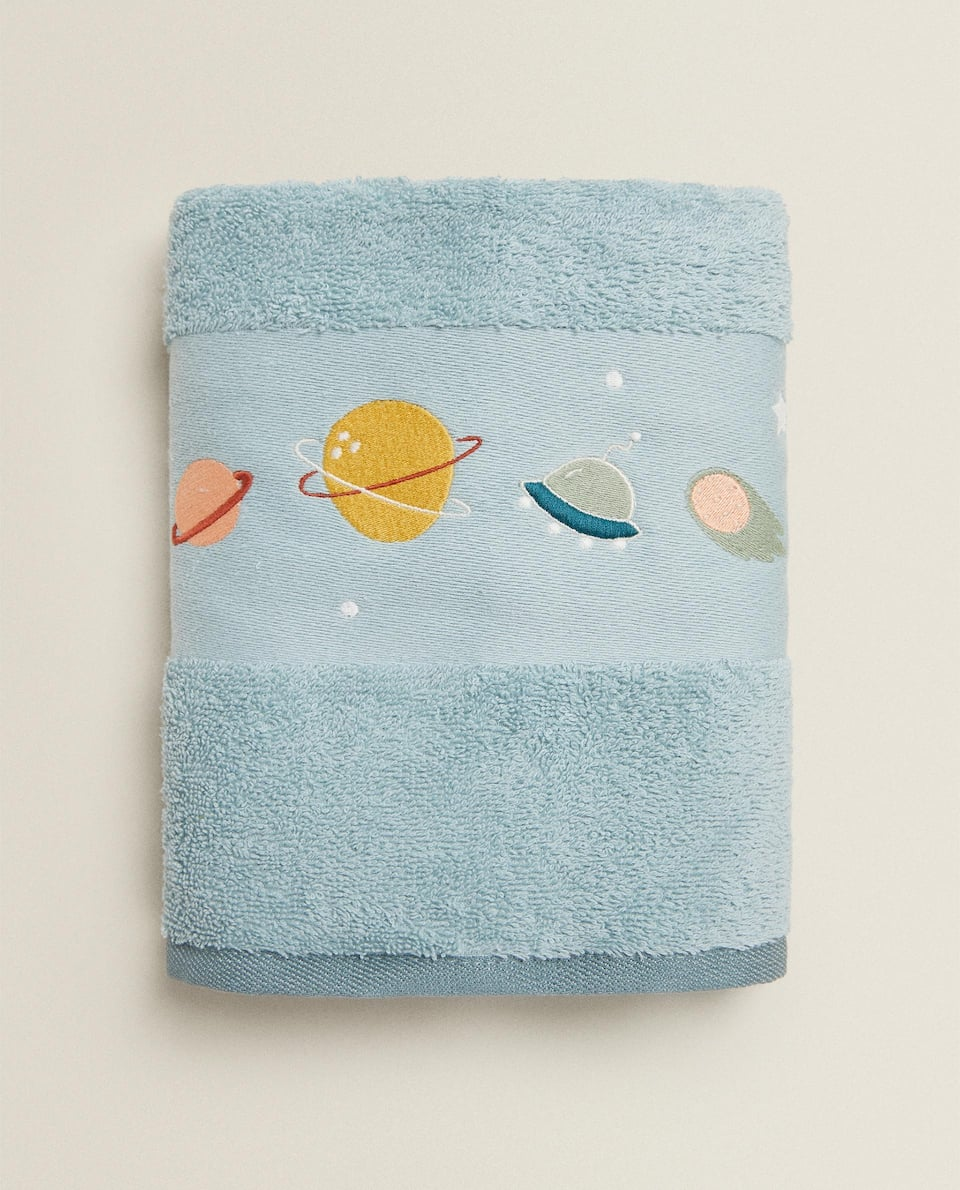 GLOW-IN-THE-DARK PLANETS TOWEL