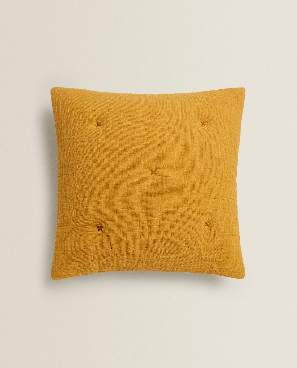 MINI WAFFLE KNIT CUSHION COVER