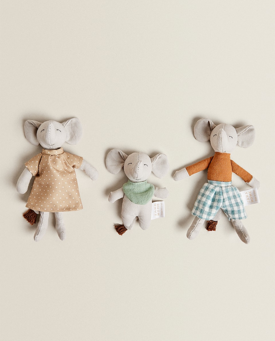 SET OF 3 ELEPHANT SOFT TOYS