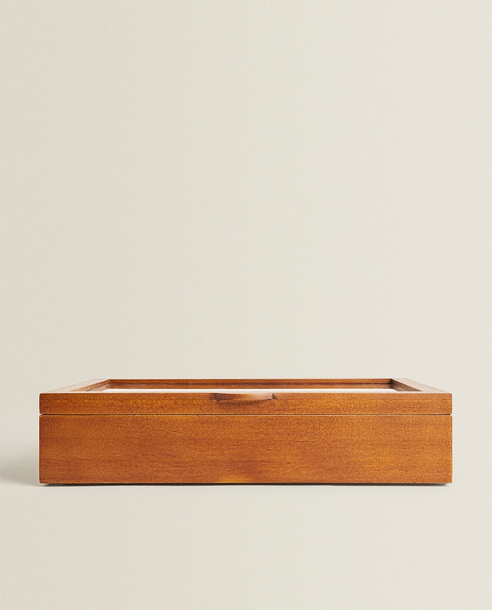 NATURAL WOOD JEWELLERY BOX