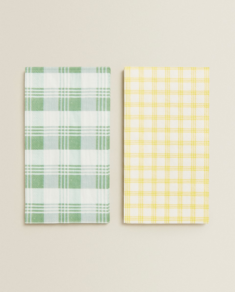 CHECK PAPER NAPKINS (PACK OF 30)