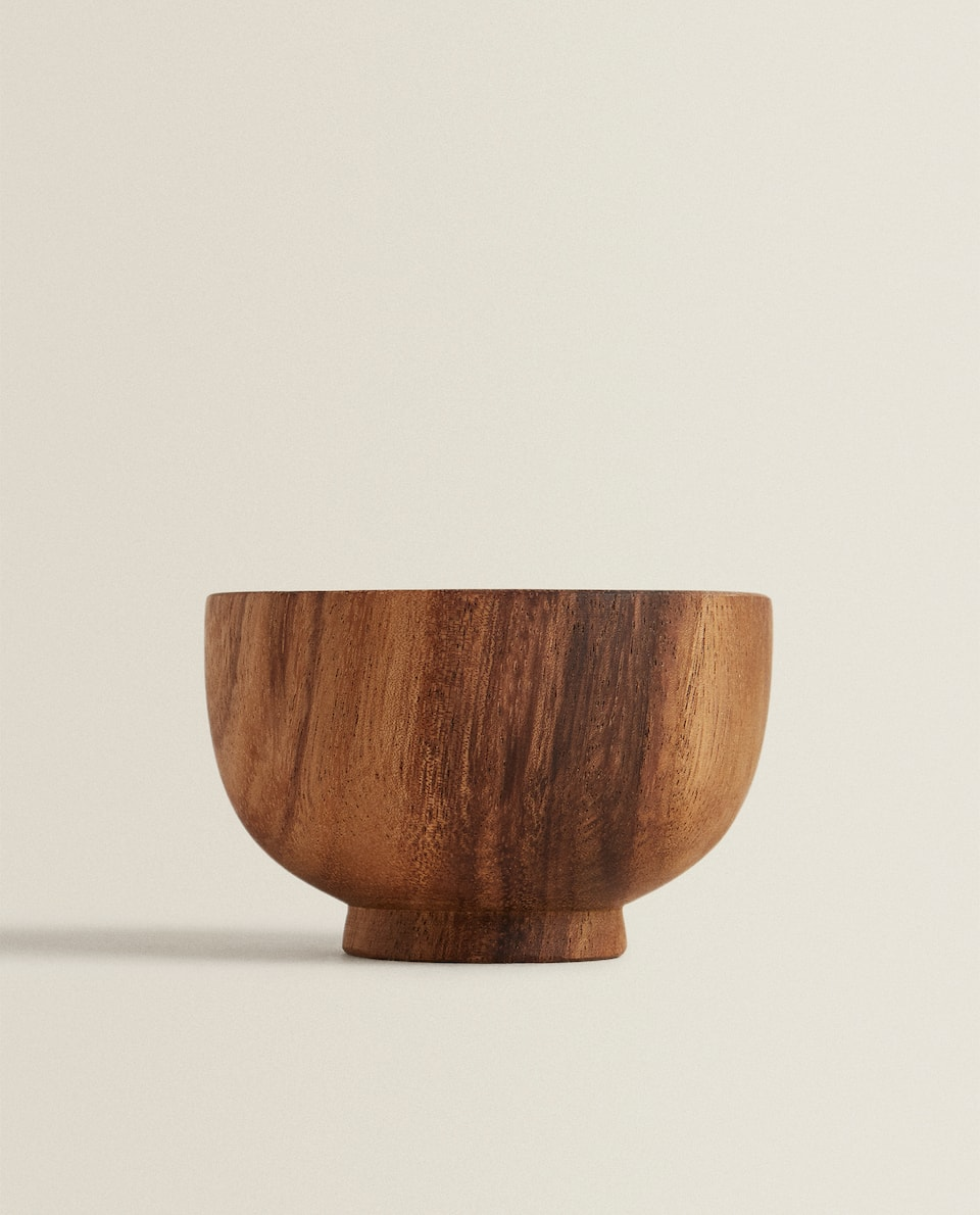 MEDIUM WOODEN BOWL