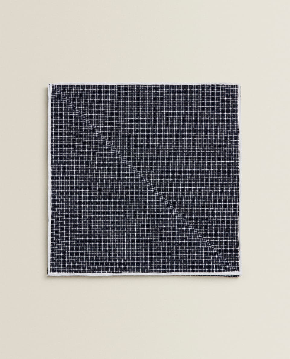 COTTON NAPKIN WITH MINI CHECKS (PACK OF 2)
