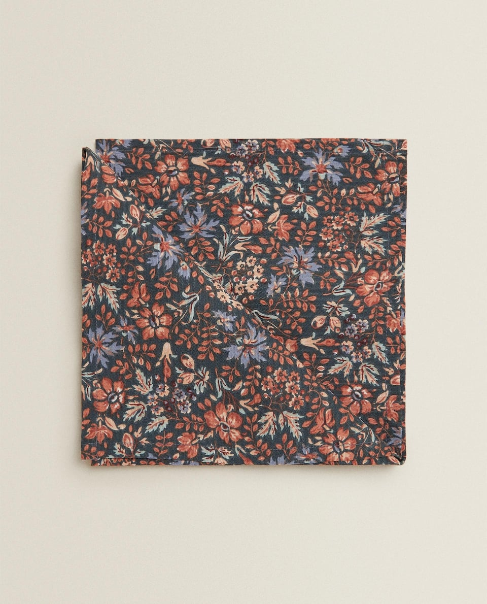 FLORAL PRINT COTTON NAPKIN (PACK OF 2)