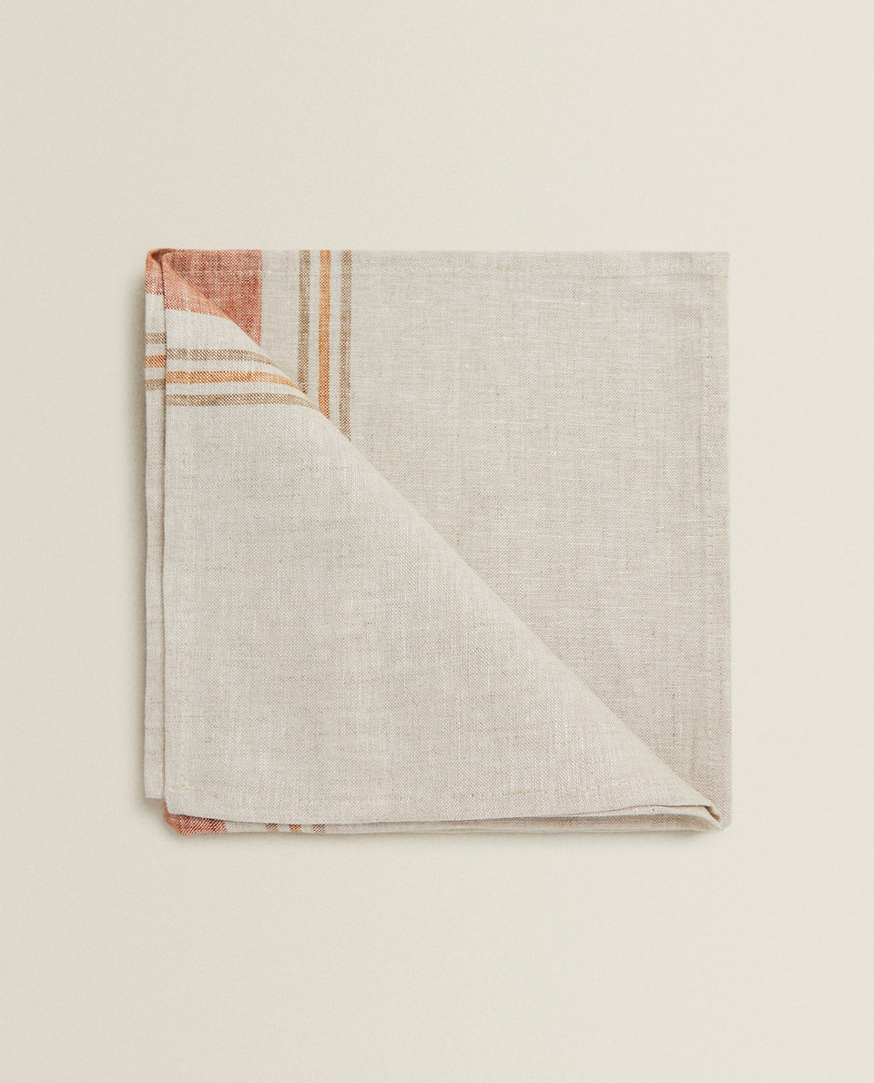 STRIPED LINEN NAPKIN (PACK OF 2)