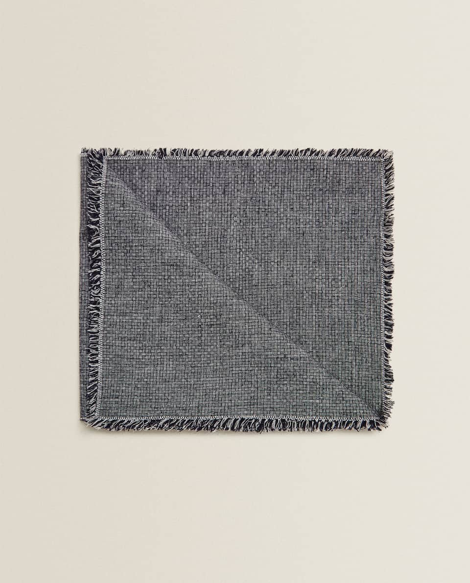 LINEN DYED THREAD NAPKIN (PACK OF 2)