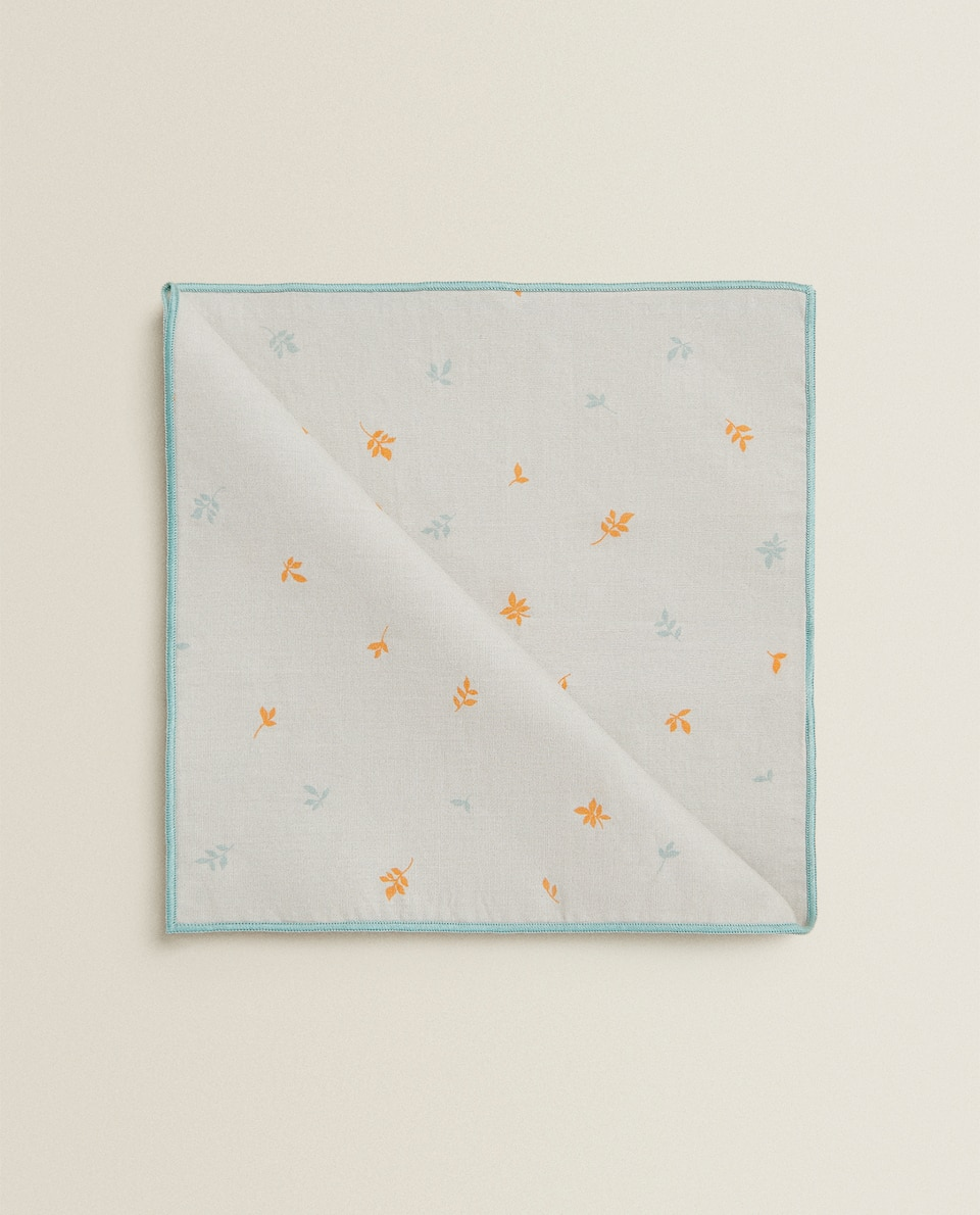 LEAF PRINT COTTON NAPKIN