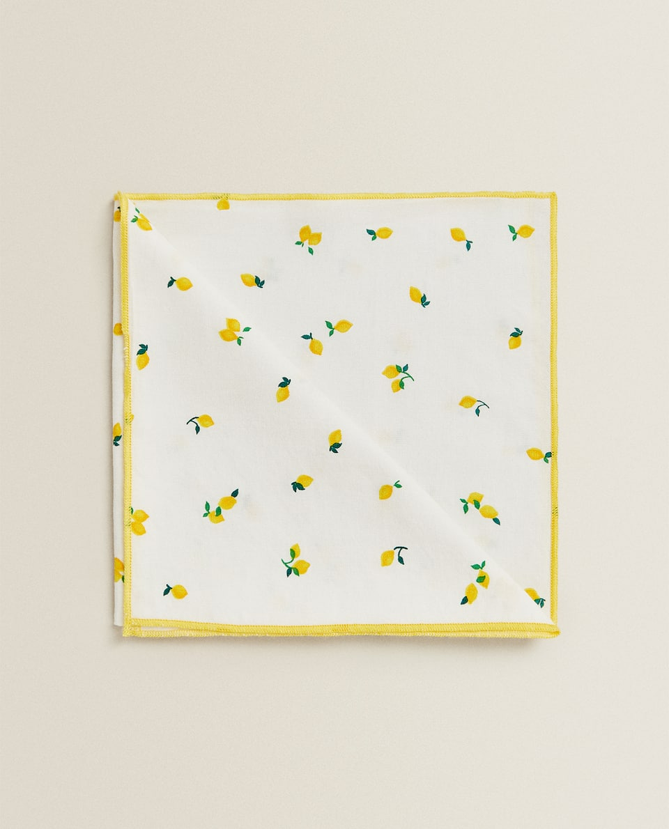 LEMON COTTON NAPKINS (PACK OF 2)