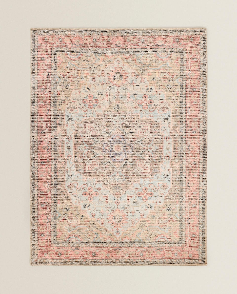 COTTON-VISCOSE RUG