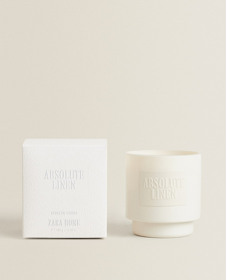 (190 G) ABSOLUTE LINEN SCENTED CANDLE