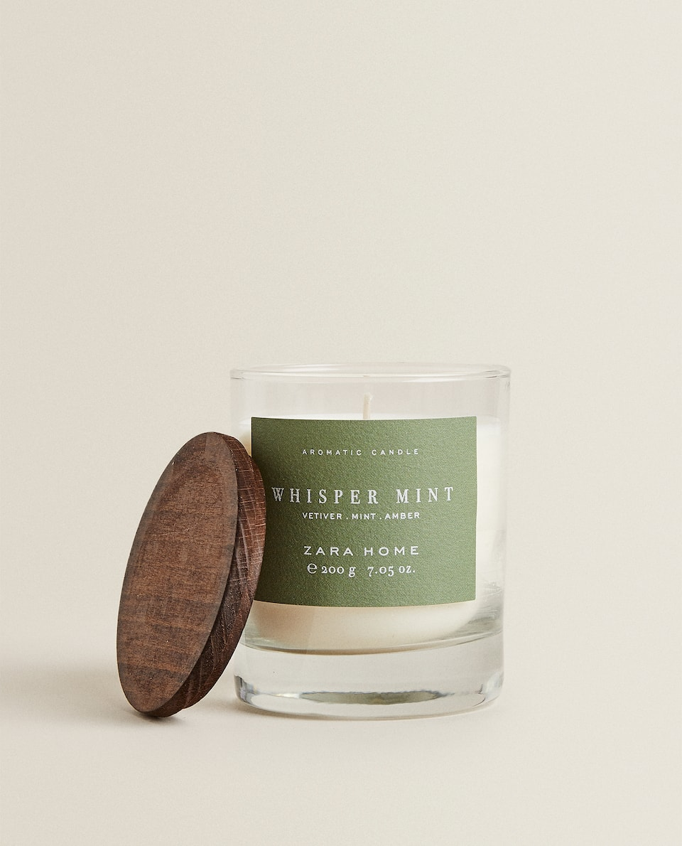 (200 G) WHISPER MINT SCENTED CANDLE