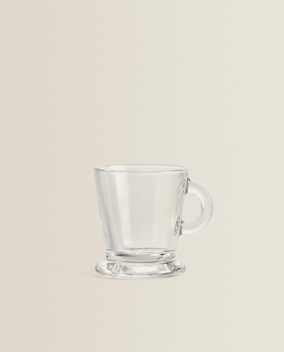 TRANSPARENT GLASS ESPRESSO CUP
