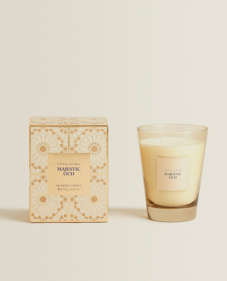 (350 G) MAJESTIC OUD SCENTED CANDLE