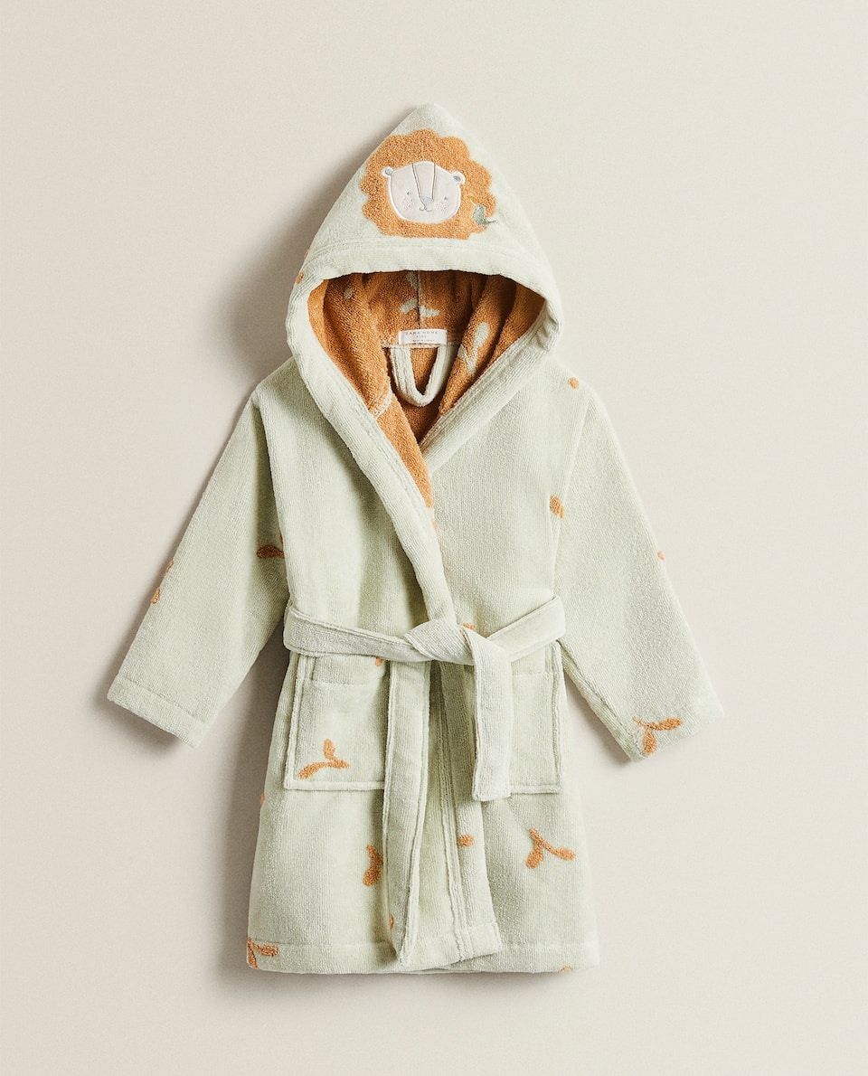 LITTLE LION MICRO-COTTON DRESSING GOWN