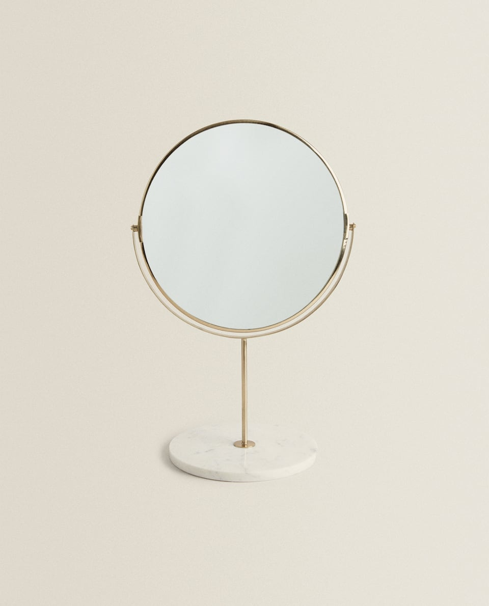 MARBLE STAND-UP MIRROR