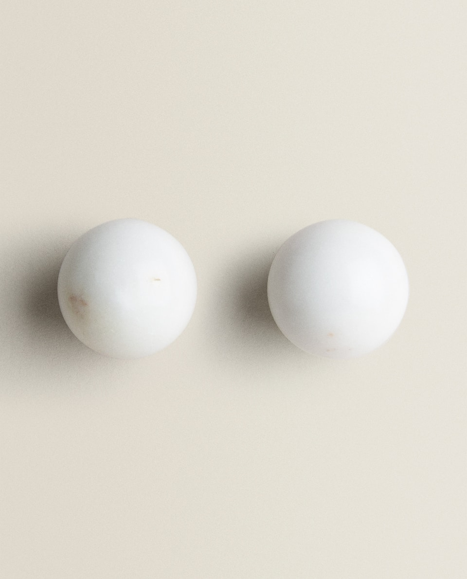 ROUND MARBLE DOOR KNOB (PACK OF 2)