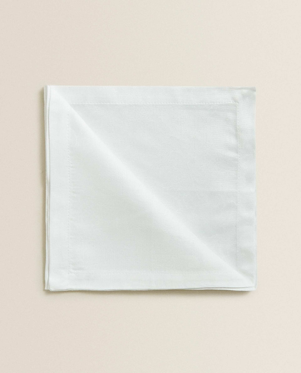 SERVIETTE DE TABLE COTON JACQUARD (LOT DE 2)