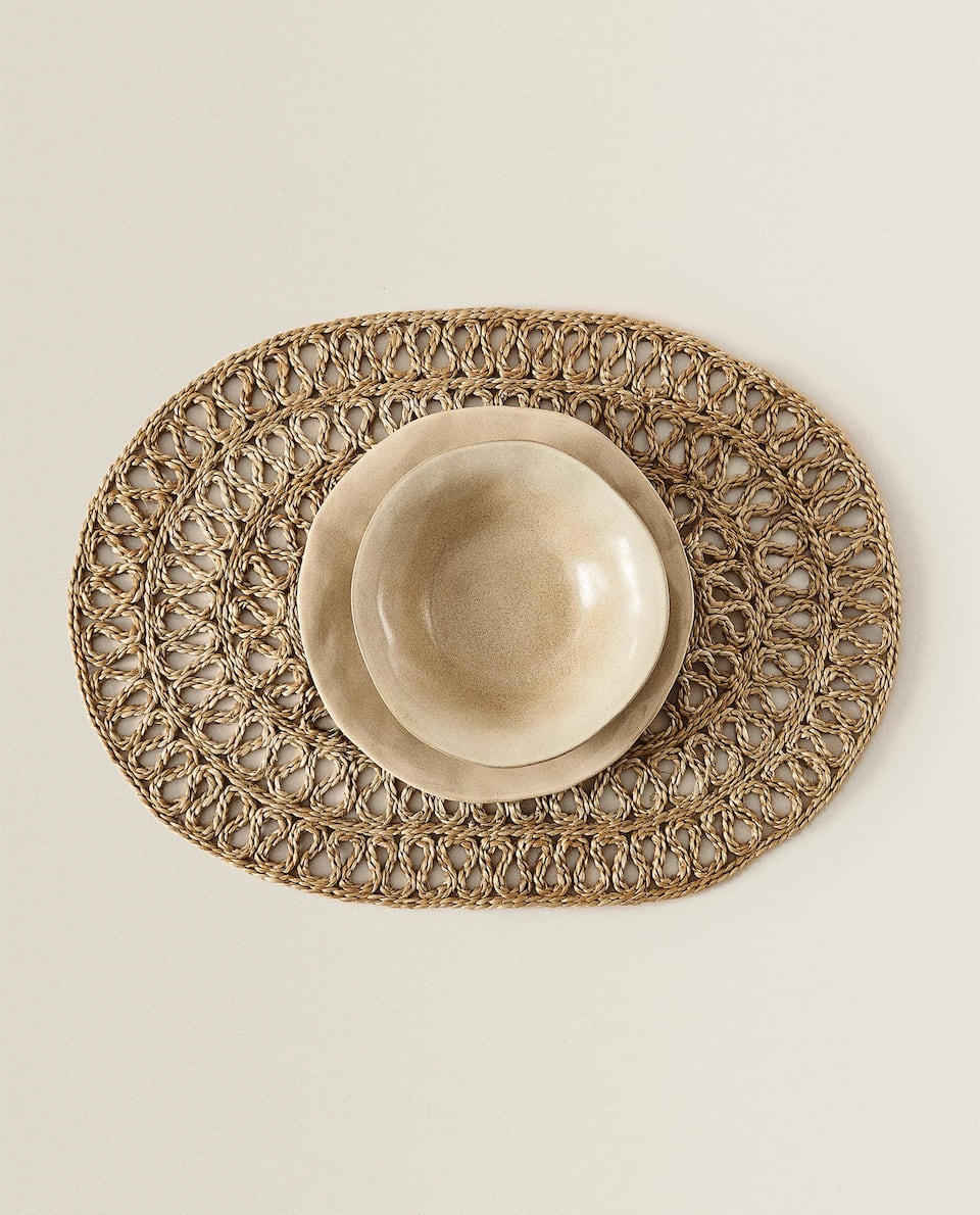 SET DE TABLE OVALE JUTE