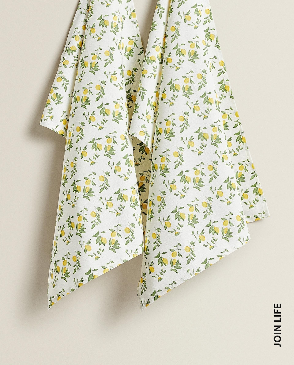 COTTON LEMON TEA TOWEL (PACK OF 2)