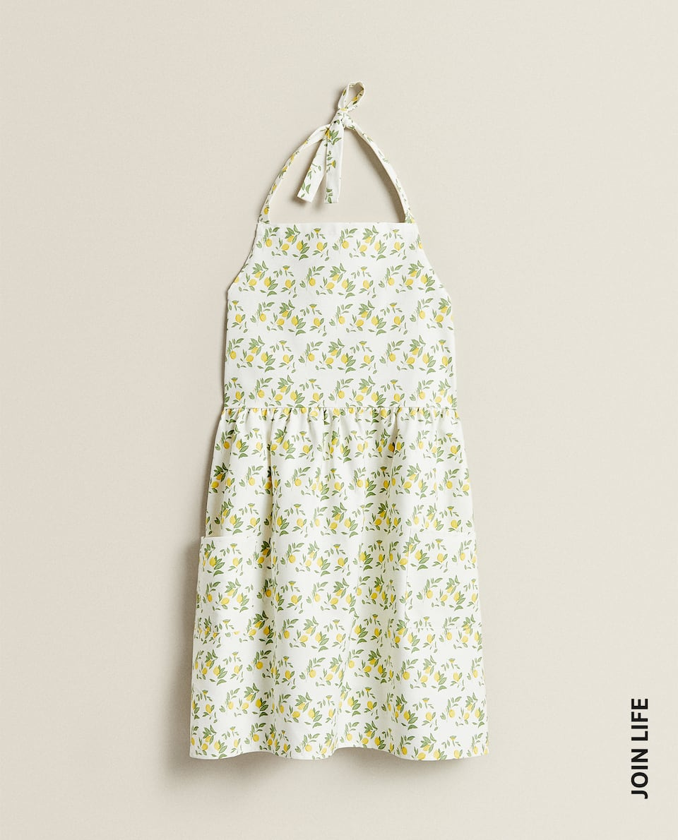 COTTON APRON WITH LEMON PRINT