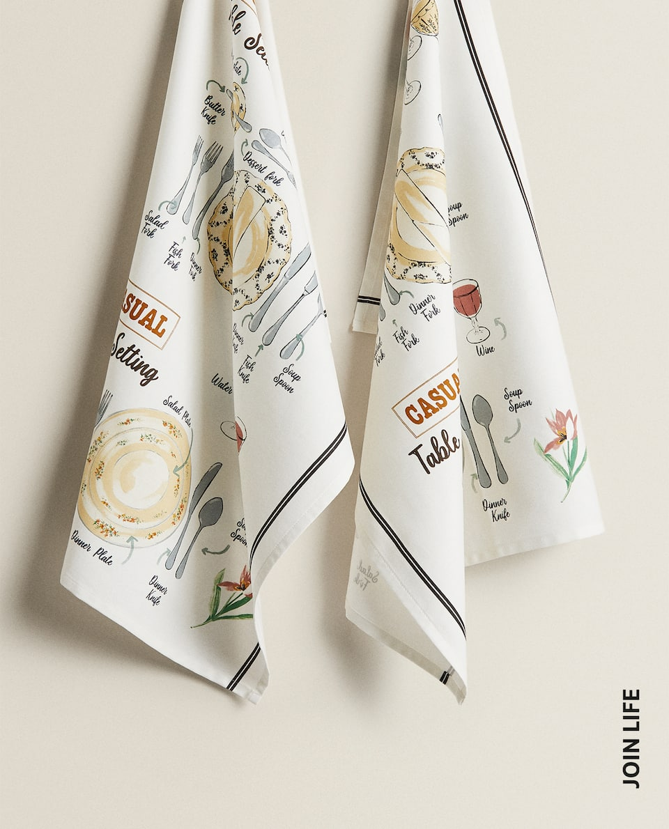 PRINTED TEA TOWEL (PACK OF 2)