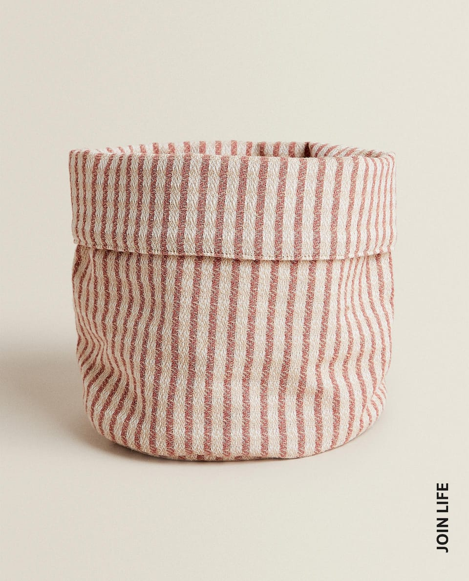 STRIPED BREAD BASKET