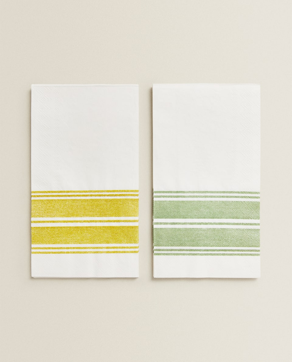 PAPER NAPKINS WITH BORDER (PACK OF 30)