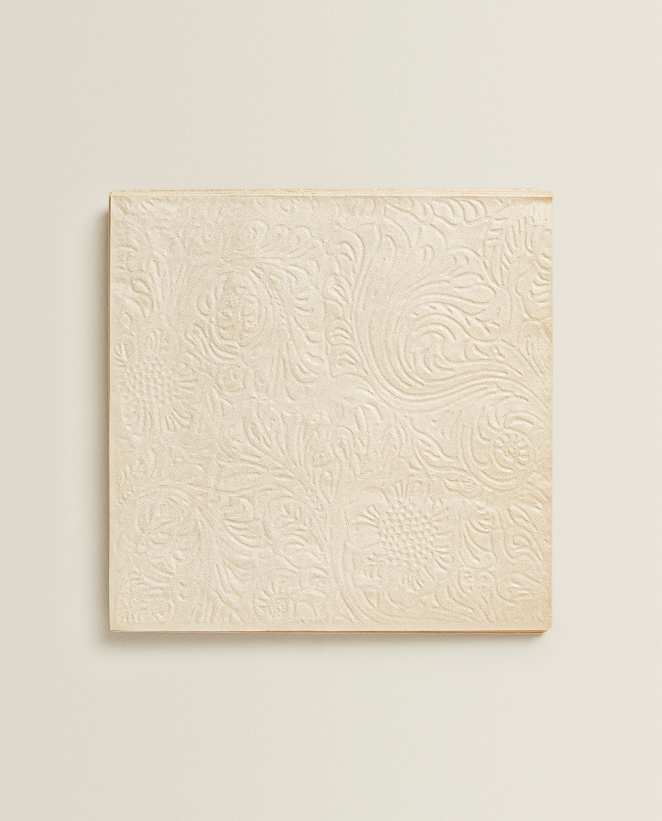 SERVIETTES EN PAPIER RELIEF (LOT DE 20)