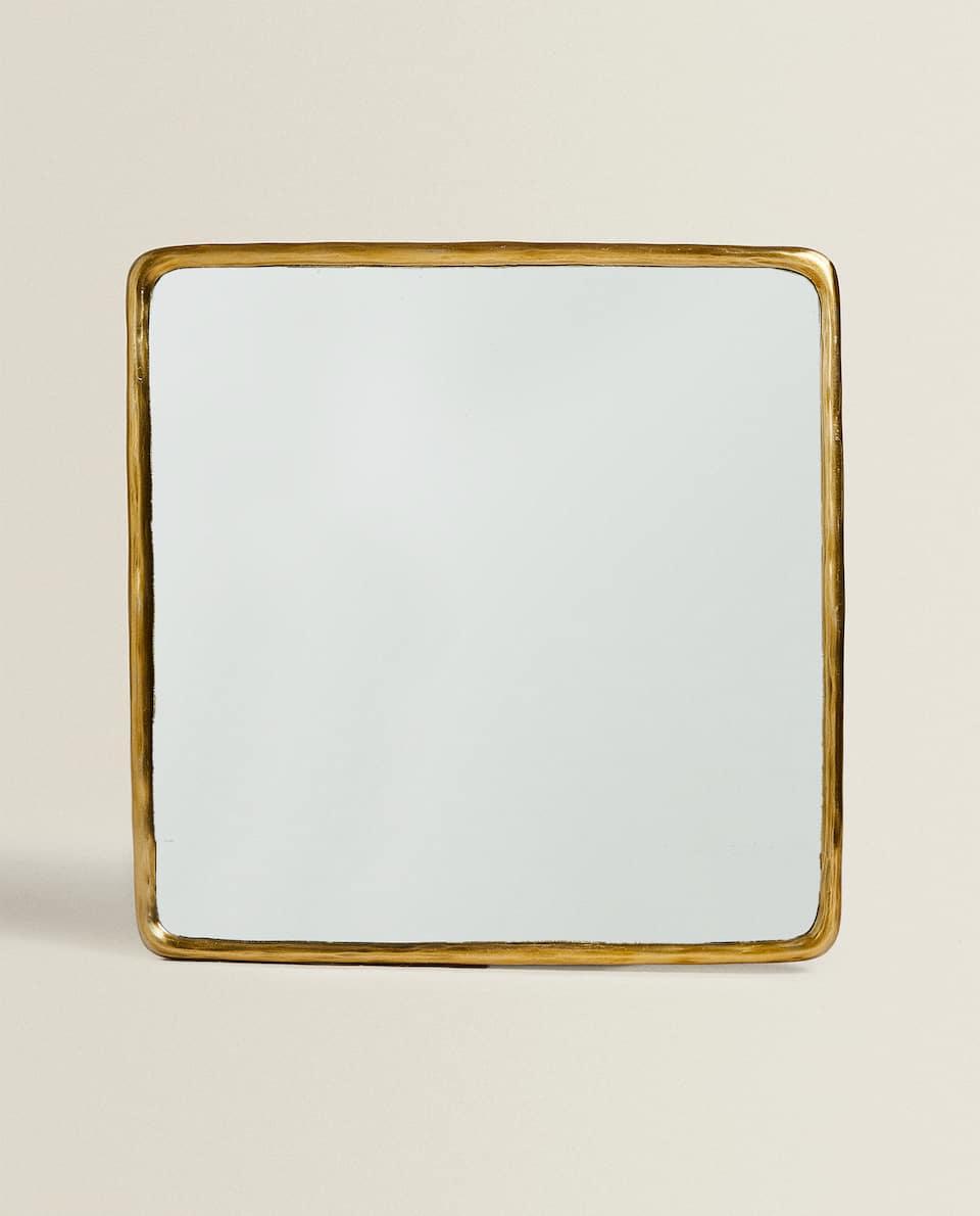 مرآة معدنية مربعة