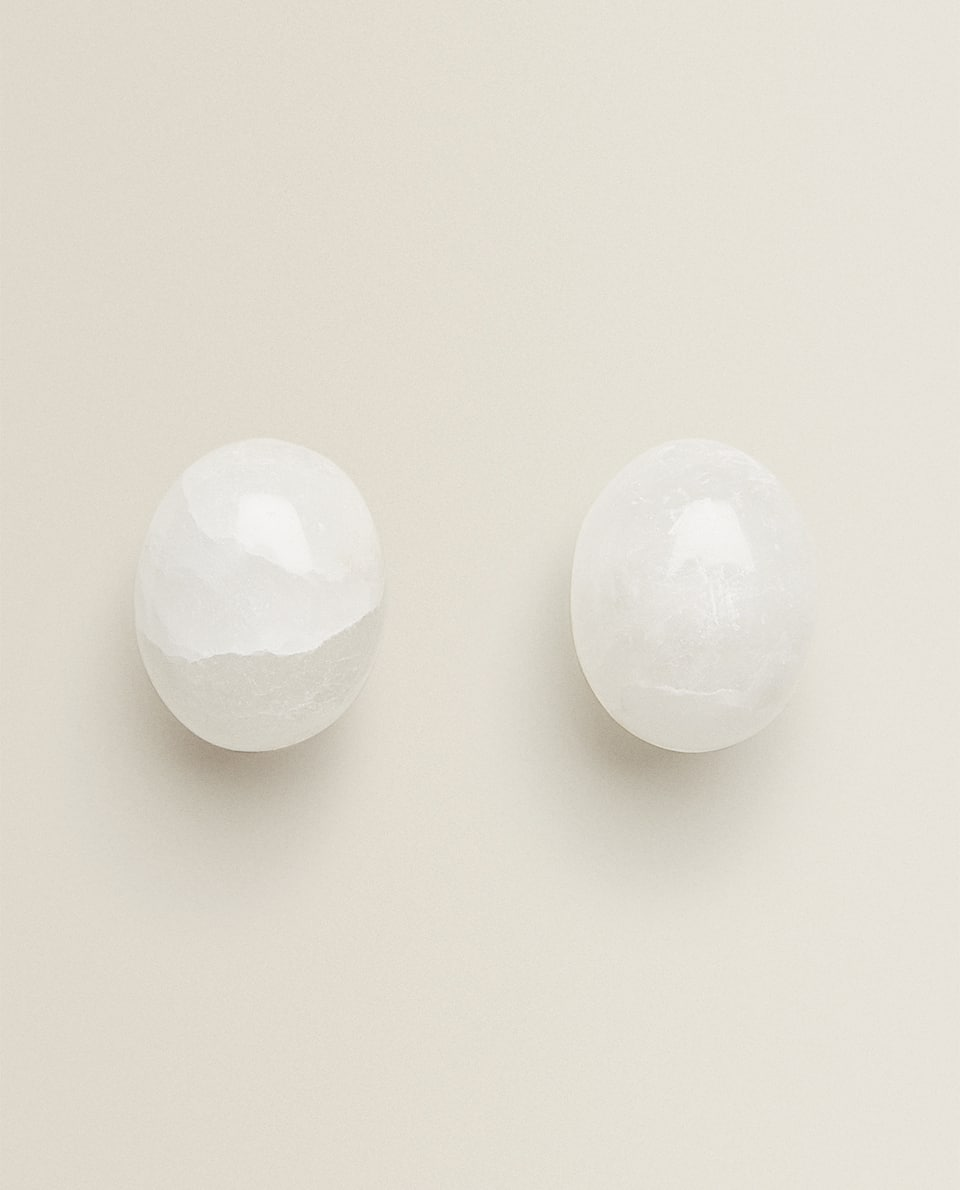 ALABASTER DOOR KNOB (PACK OF 2)