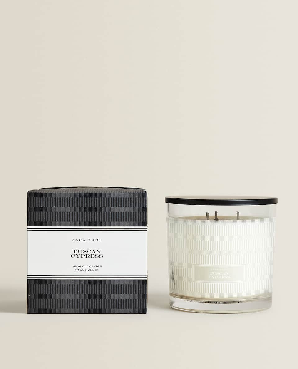 (620 G) TUSCAN CYPRESS SCENTED CANDLE