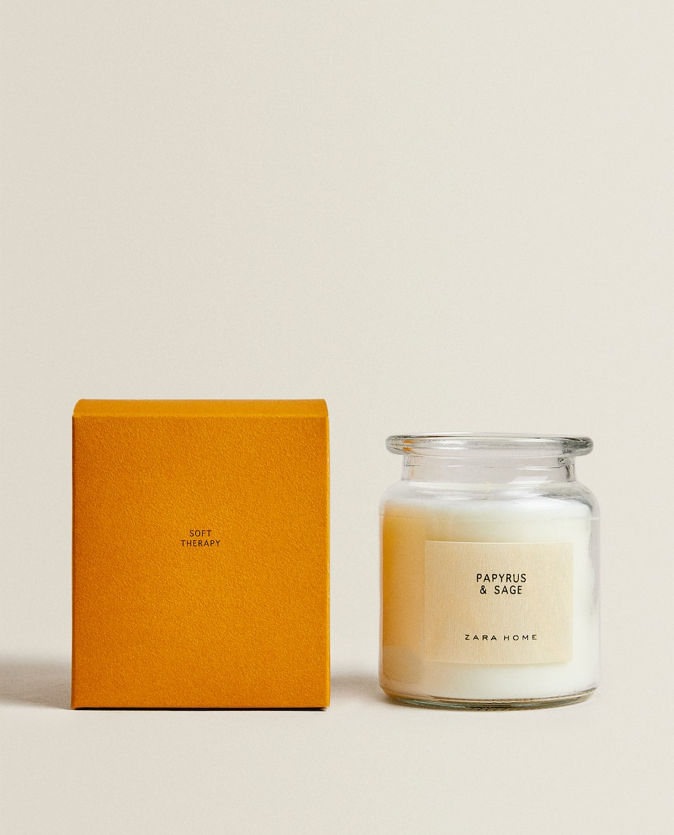 (230 G) PAPYRUS & SAGE SCENTED CANDLE