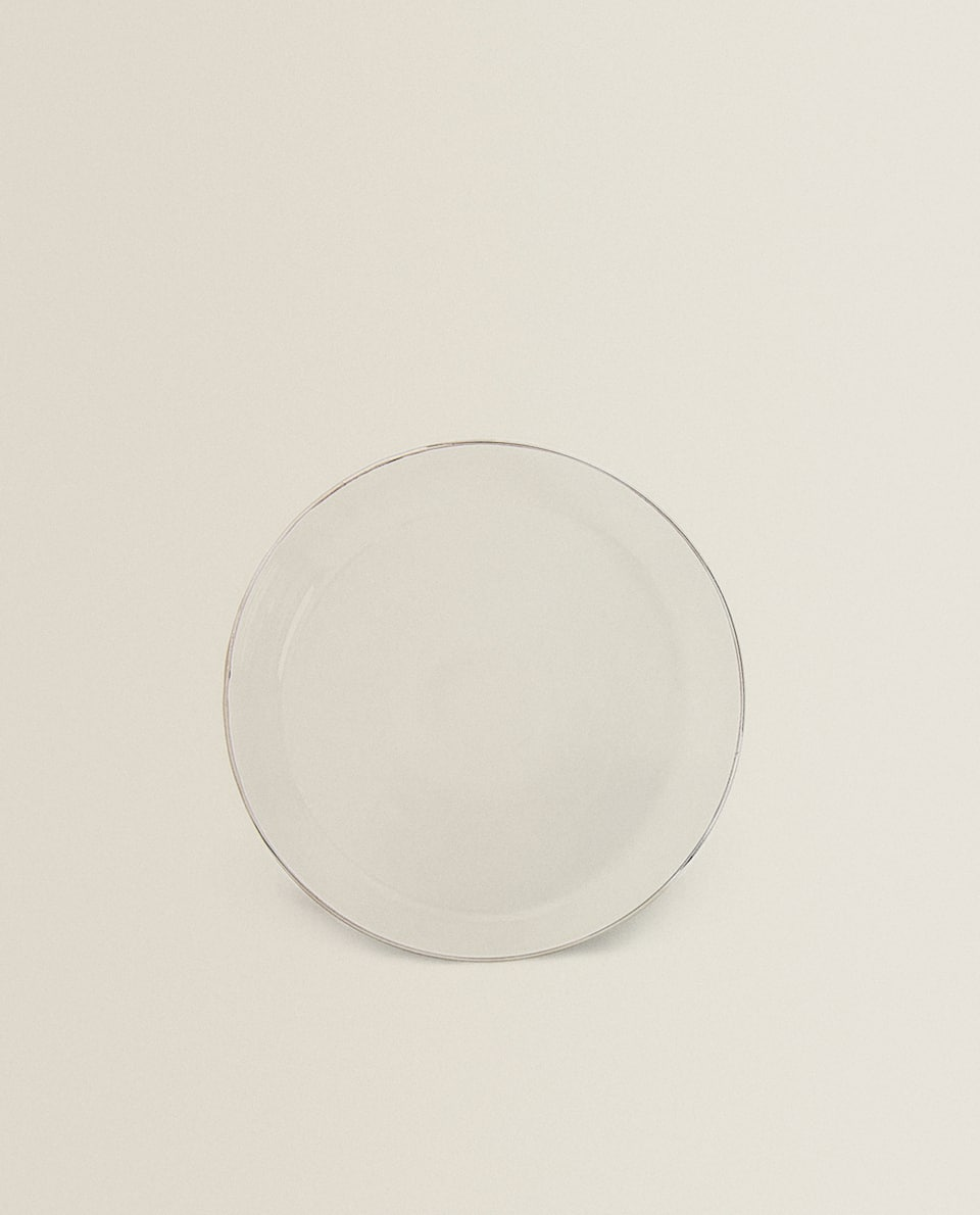BOROSILICATE GLASS SIDE PLATE WITH RIM