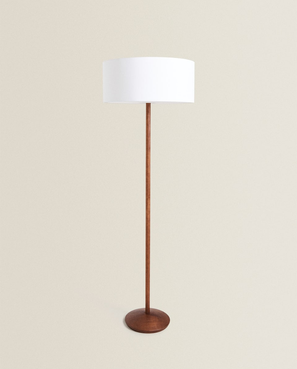 FLOOR LAMP WITH LINEN LAMPSHADE