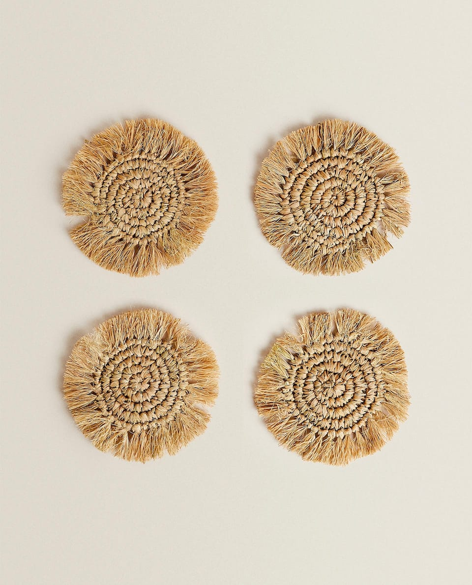 FRINGED COASTERS (PACK OF 4)