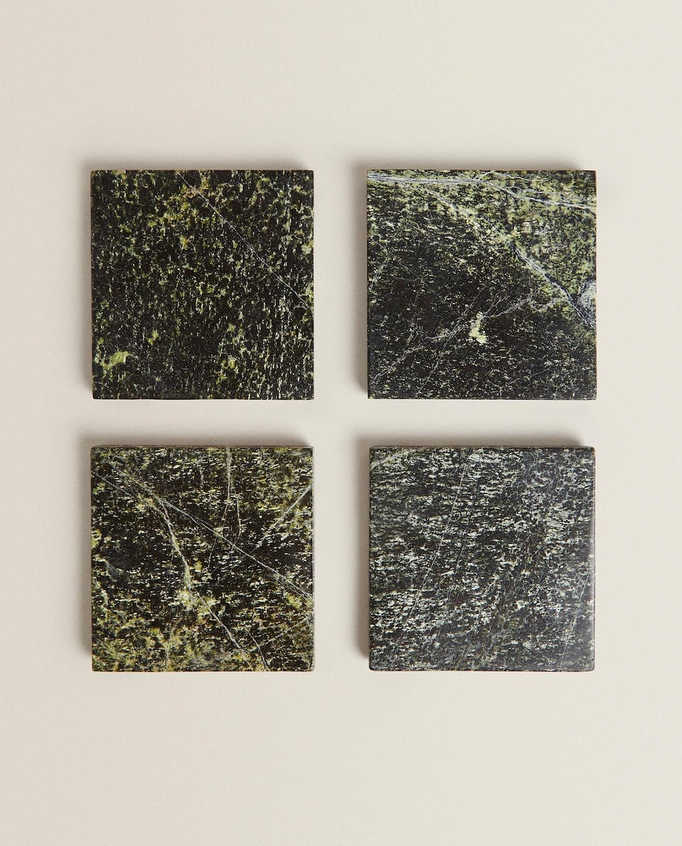 MARBLE COASTERS (PACK OF 4)