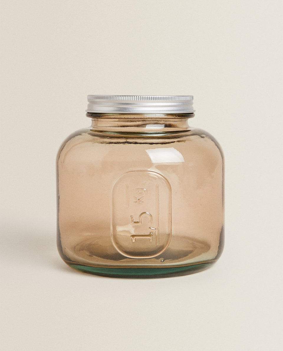 1.5 KG CAPACITY GLASS JAR