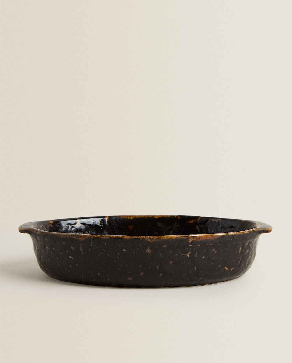REACTIVE STONEWARE OVEN SERVING DISH