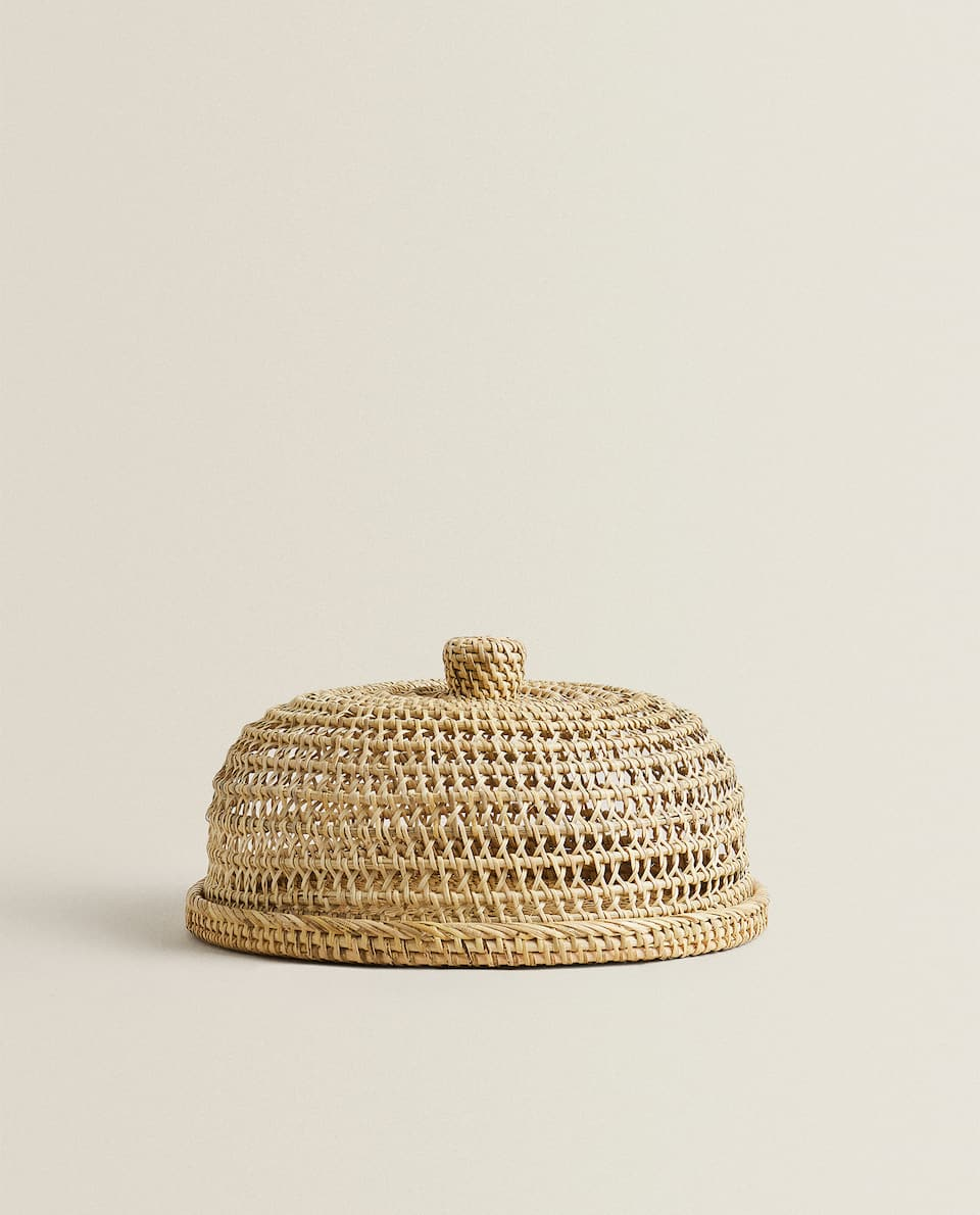 WOVEN RATTAN SERVING DISH