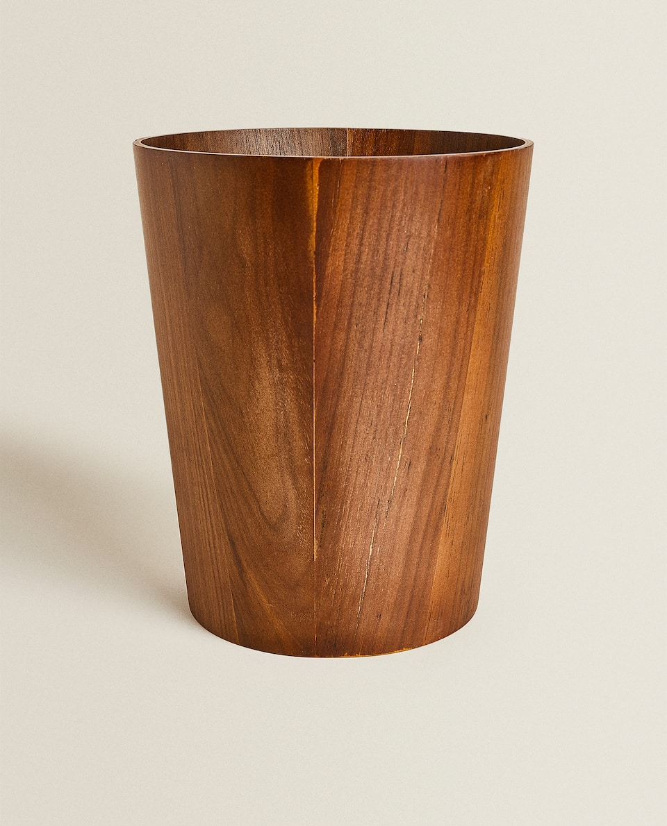 WOODEN WASTEPAPER BASKET