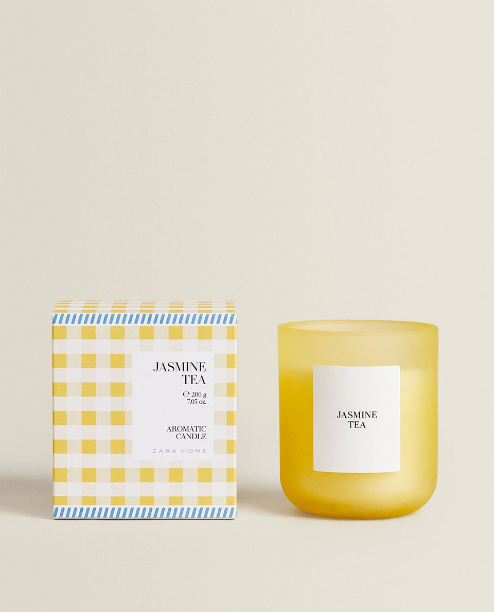 (200 G) JASMINE TEA SCENTED CANDLE